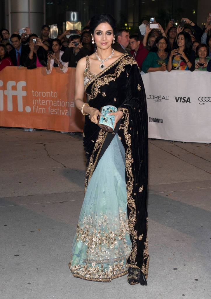 "Kapoor arrives for the gala presentation of ""English Vinglish"" during the Toronto International Film Festival"